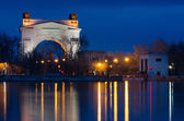 View of first lock of Volga-Don Canal named after Lenin, Volgograd — Stock Photo
