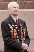 Portrait of a veteran speaker's speech — Foto Stock