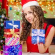 She has prepared gifts for loved ones — Stock Photo #75934033