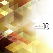 Vector abstract geometric background with cube — Wektor stockowy