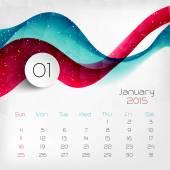 2015 Calendar. January. Vector illustration — Stock Vector