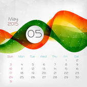 2015 Calendar. May. Vector illustration — Stock Vector