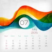 2015 Calendar. July. Vector illustration — Stock Vector