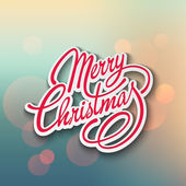 Merry Christmas Vector Lettering. Retro design — 图库矢量图片