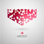 Abstract geometric background with color triangle — Stock Vector