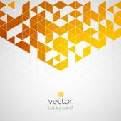 Abstract geometric background with color triangle — Vetor de Stock