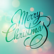 Merry Christmas Vector Lettering. Retro design — Stock Vector #58459579