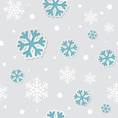 Abstract Christmas  seamless background with snowflakes — Stock Vector