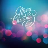 Merry Christmas Vector Lettering. Retro design — Stock Vector