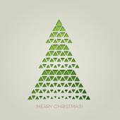 Merry Christmas tree with triangle shape — Vettoriale Stock