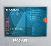Abstract template brochure design with geometric background — Vetor de Stock
