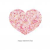 Валентина карты с сердцем — Cтоковый вектор
