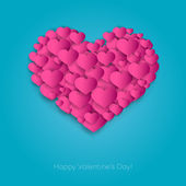 Valentines Card with heart — Stock Vector