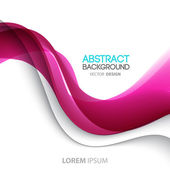 Abstract curved lines background. Template brochure design — Stock Vector
