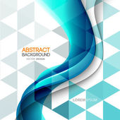 Abstract curved lines background. Template brochure design — Stock vektor