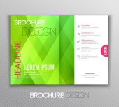 Abstract template brochure design with geometric background — Stock Vector