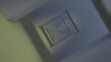 Flying through infinite corridor. — Stock Video