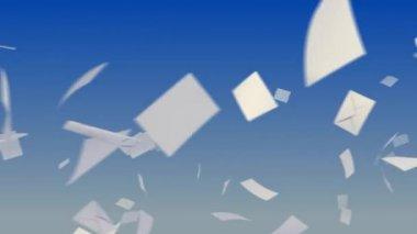 Flying envelopes — Stock Video
