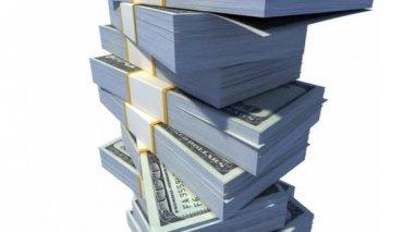 Stack of Dollar Bills. — Stock Video
