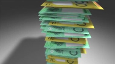 Stack of Australian Dollars — Stock Video