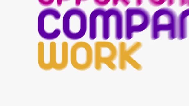 """Animación de tipografía cinética sobre carrera y empleo"""" — Vídeo de stock"""