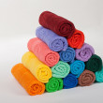 Folded towels pyramid — Stock Photo #68713815