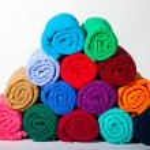 Folded towels pyramid — Stock Photo #68713817