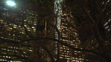 Bryant Park v noci Nyc — Stock video