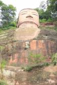 Large buddha statue in Leshan, Sichuan, China — Stock Photo