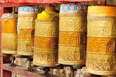 Tibetan Prayer Wheels — Stock Photo