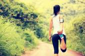 Woman runner warm up outdoor — Foto de Stock