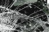 Broken windshield in car accident — Stock Photo