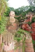 Largest buddha statue in Leshan, Sichuan, China — Stock Photo