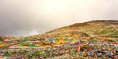 Bandeiras de oração tibetana budista — Fotografia Stock