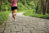 Sportovec běžec běží — Stock fotografie