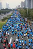 Marathon runners on the street — 图库照片