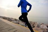 Runner athlete running — Stock Photo