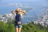 Asian hiker woman — Stockfoto