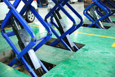 Hydraulic car jacks — Stockfoto