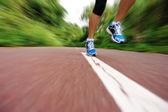 Jonge fitness vrouw joggen — Stockfoto