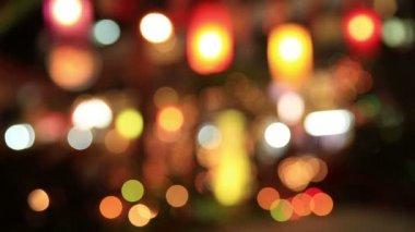 Vánoční osvětlení pozadí — Stock video