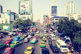 Central Bangkok Busy traffic — Stock Photo