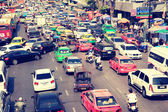 Central Bangkok Busy traffic — Stock Photo
