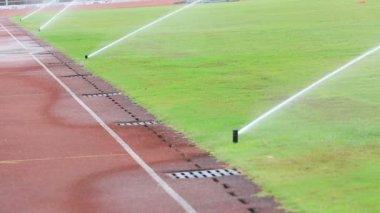 Irrigation turf stadium — Stock Video