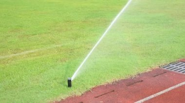 Irrigation turf stadium — Stock Video