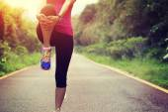 Woman runner warm up — Stock Photo