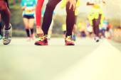 Běžecký závod maratónu — Stock fotografie