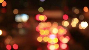 Defocused traffic car lights — Stockvideo