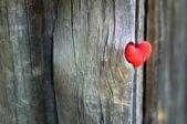 Rood hart — Stockfoto