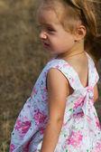 Portrait of a cute girl in profile  — Stockfoto
